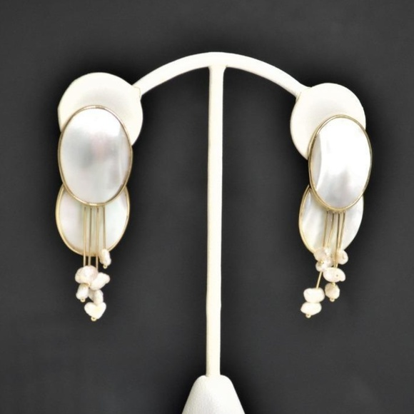 bfc5bc976 Vintage Jewelry | Designer Donna Chambers 14k Gold Pearl Earrings ...